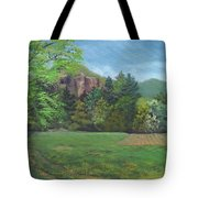 Cathedral Ledge From Westside Road Tote Bag