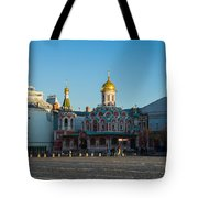 Cathedral Of Our Lady Of Kazan - Square Tote Bag by Alexander Senin