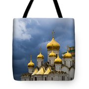 Cathedral Of The Annunciation Of Moscow Kremlin - Square Tote Bag