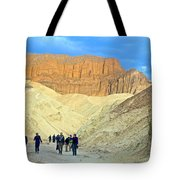 Cathedral Peaks From Golden Canyon In Death Valley National Park-california Tote Bag