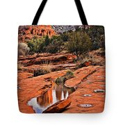 Cathedral Rock In Winter Tote Bag
