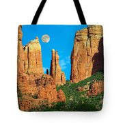 Cathedral Rock Moon Tote Bag