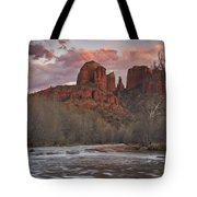 Cathedral Rock Sunset Tote Bag by Paul Riedinger