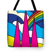 Cathedral Spires Stained Glass Lichfield Tote Bag
