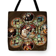 Cathedral Stained Glass Tote Bag