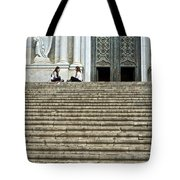 Cathedral Steps Girona Spain Tote Bag