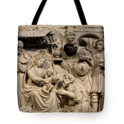 Cathedral Wall Nativity Sculpture Tote Bag