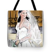 Catherine Duchess Of Cambridge Print  Tote Bag by Eric  Schiabor