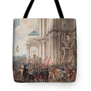 Catherine II On The Balcony Of The Winter Palace, Greeted By Guards And People On The Day Tote Bag