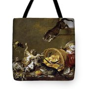 Cats Fighting In A Larder Tote Bag