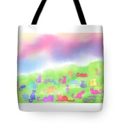 Cats In The Meadow Tote Bag