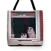 Cats On A Sill Tote Bag