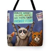 Cats On Strike Edit 2 Tote Bag