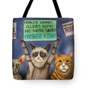 Cats On Strike Edit 3 Tote Bag