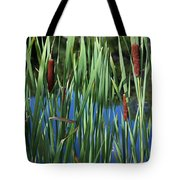 Cattail Pond Tote Bag