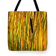 Cattails Aflame Tote Bag