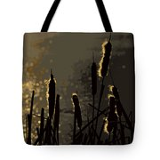 Cattails At Sunset Tote Bag