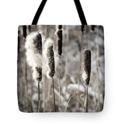 Cattails In Winter Tote Bag