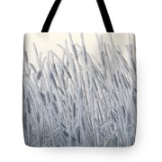Cattails Typha Latifolia Covered In Snow Tote Bag