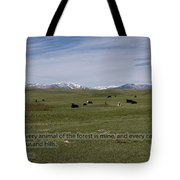 Cattle And Bible Verse Tote Bag