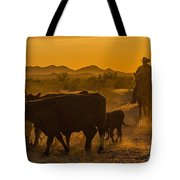 Cattle Drive 10 Tote Bag