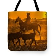 Cattle Drive 13 Tote Bag