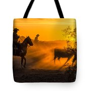 Cattle Drive 14 Tote Bag