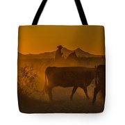 Cattle Drive 16 Tote Bag