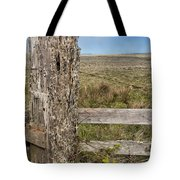 Cattle Fence On The Stornetta Ranch Tote Bag