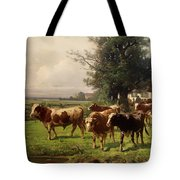 Cattle Heading To Pasture Tote Bag