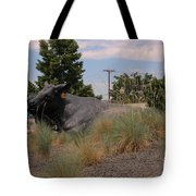Cattle In Downtown Denver Tote Bag