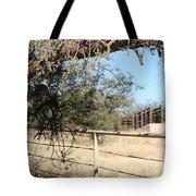 Cattle Ramp Tote Bag