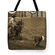 Cattle Roping In Colorado Tote Bag