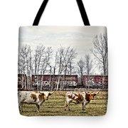 Cattle Train Tote Bag