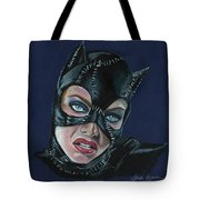 Catwoman Tote Bag by Leida Nogueira