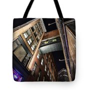 Caught Between Darkness And Light Tote Bag