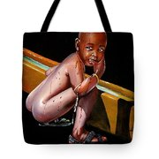 Caught Drinking At The Trough Tote Bag