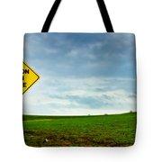 Caution Open Range Tote Bag