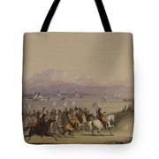 Cavalcade By The Snake Indians Tote Bag