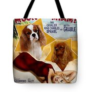 Cavalier King Charles Spaniel Art - Moon Over Miami Movie Poster Tote Bag