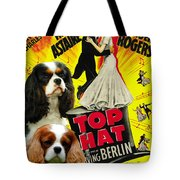 Cavalier King Charles Spaniel Art - Top Hat Movie Poster Tote Bag