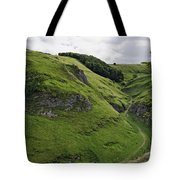 Cave Dale From Peveril Castle Tote Bag