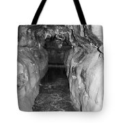 Cave Entrance Black And White Tote Bag