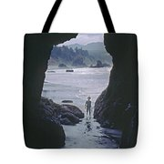 Mp-335-cave In Battle Rock Port Orford Tote Bag