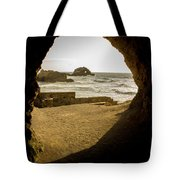 Cave View Of Rocks Near San Francisco Ca Cliff House Tote Bag