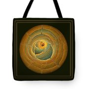 Cavern Framed Green And Gold Tote Bag