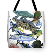 Cayman Collage Tote Bag