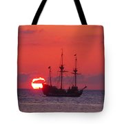 Cayman Sunset Tote Bag by Carey Chen