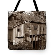 Cedar Creek Grist Mill Sepia Tote Bag
