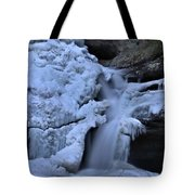 Cedar Falls In Winter At Hocking Hills Tote Bag by Dan Sproul